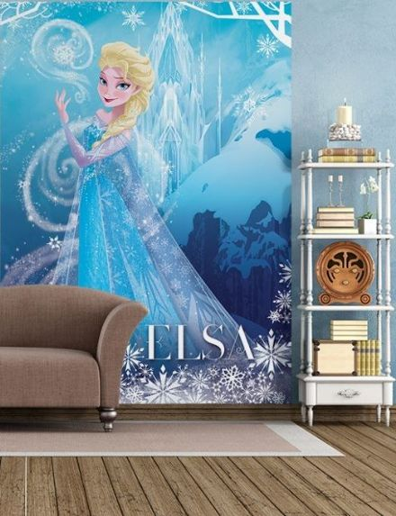 Elsa Frozen Disney wall mural wallpaper